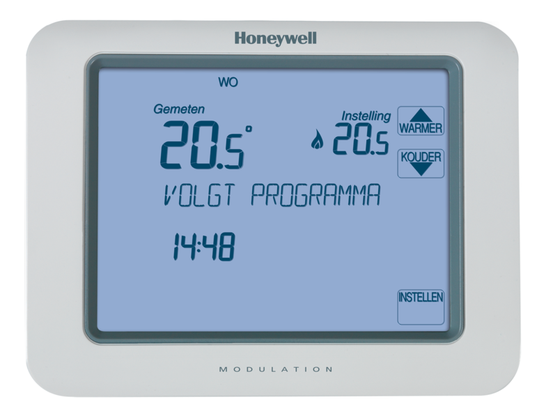 Honeywell Klokthermostaat opentherm 24V Chronotherm Touch modulation TH8210M1003