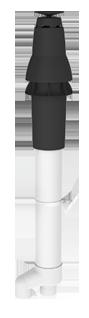 Burgerhout Dakdoorvoer Skyline 3000 HR PP zwart 80/80mm