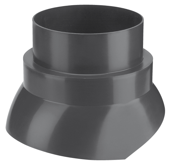 Burgerhout Scharnierkap F 140mm 25-45 PP zwart P125/V125/FX80