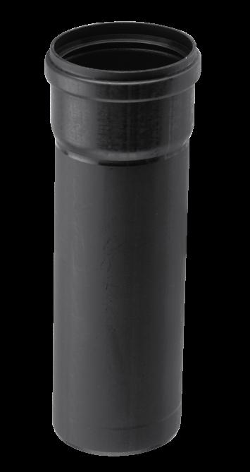 Burgerhout BM-AIR Luchttoevoerpijp 80mm mof x spie l=1500mm PP zwart