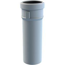 Burgerhout Safe-PP Rookgaspijp 80mm mof x spie l=250mm PP wit