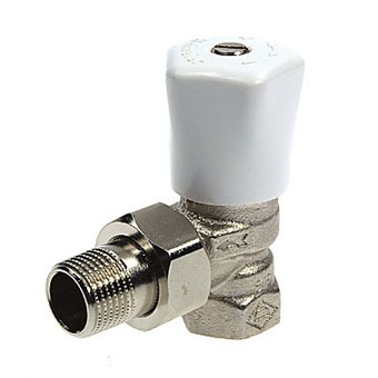 Heimeier Radiatorkraan 1/2 haaks Mikrotherm
