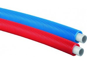 Uponor MLC leiding in mantelbuis 16x2mm rol 75 meter rood 1013679