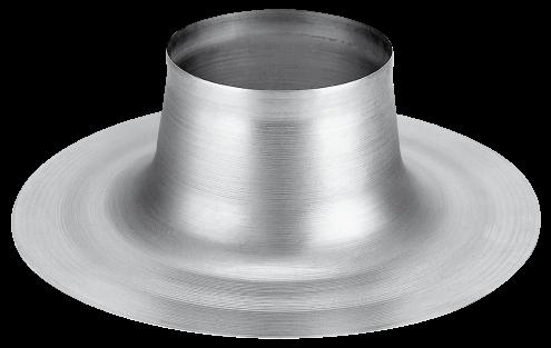 Burgerhout Plakplaat rond aluminium 133mm voor rookgas-ventilatie-lucht 110mm 400453168