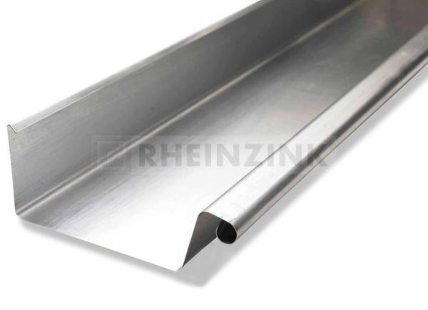 Rheinzink zinken bakgoot B37 dikte=0.80mm lengte=3m