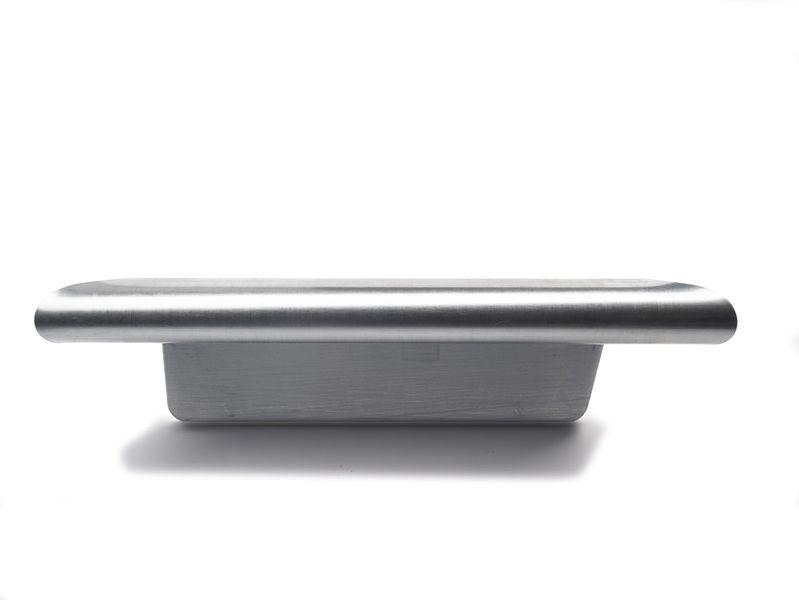 Rheinzink zinken kopschot met kraal voor bakgoot rechts B37 dikte=0.80mm