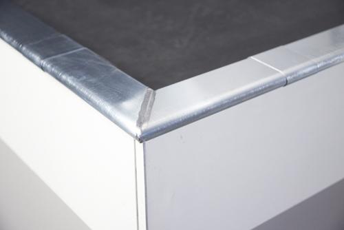 Rheinzink standaard deklijst 45/70mm dikte=0.80mm lengte=3m