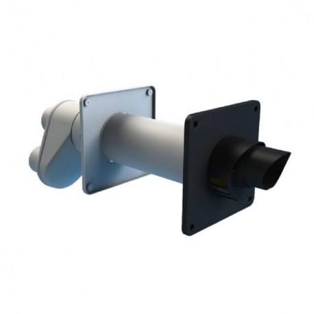 Burgerhout Geveldoorvoer Safe PP HR zwart/wit l=640mm 80/125mm