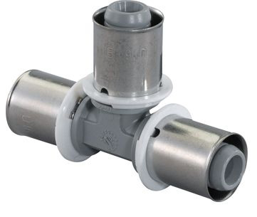 Uponor MLC composiet pers T-stuk 20X20X20mm PPSU 1022719