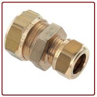 Bonfix Messing knelkoppeling verlopend 28x22 mm Gastec / Kiwa 82536