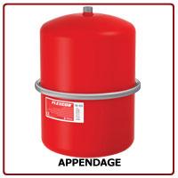 Expansievat Flexcon 25 litr. x 1 bar kleur rood